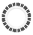 round border piano keyboard vector image vector image