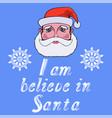 santa head icon typography design vector image vector image