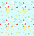 seamless pattern with cute autumn cats vector image
