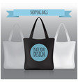 shopping bags black white grey bag for your vector image