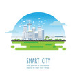 smart city with different icons and elements vector image vector image