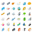 specific icons set isometric style vector image vector image