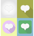 speech bubbles flat icons 12 vector image vector image