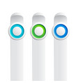 trio buttons set collection vector image