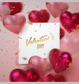 valentines day holiday scene vector image vector image