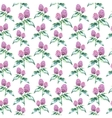 Watercolor clover herb seamless pattern vector image vector image