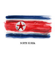watercolor painting flag north korea vector image vector image