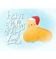 flat style fat ginger cat vector image