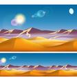 Hot desert in the daytime vector image