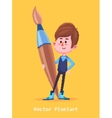 Pixel funny boy Isolated on yellow background vector image
