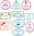 tropical passport stamps vector image