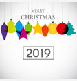2019 happy new year and marry christmas background vector image vector image