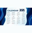 2021 calendar template design vector image