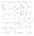 50 hand-drawn arrows icons vector image vector image