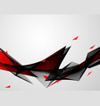 abstract red black background waves vector image vector image