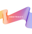 abstract smooth color wave curve flow gradient vector image