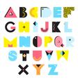 alphabet memphis style vector image