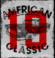 american classic car vintage race car vector image vector image