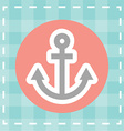 anchor design vector image
