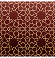 Arabic geometric art seamless pattern vector image