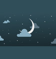 background beauty sky moon star and cloud vector image