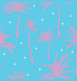 beautiful exotic tropical summer pattern vector image vector image
