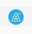 billiard icon sign symbol vector image