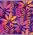 bright ultraviolet tropical seamless pattern vector image