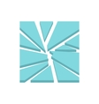 Broken glass icon flat style vector image vector image