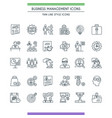 business management line icons vector image