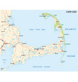 cape cod road map united states vector image vector image