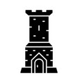 castle tower glyph icon vector image