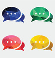 chat icon Abstract Triangle vector image