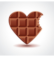 Chocolate heart love concept vector image vector image