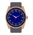 classic design mechanical wristwatch vector image vector image