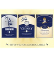collection of labels for alcohol vector image vector image