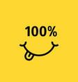 customer smile like satisfaction guarantee vector image