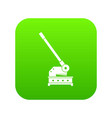cutting machine icon digital green vector image vector image