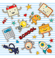 education and school cute stickers and patches vector image