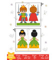 education paper crafts for children prince and vector image vector image