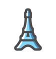 eiffel tower silhouette france icon cartoon vector image