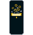 elegant label for sunflower oil with doodle vector image vector image