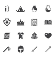 Fantasy game trendy icons vector image vector image