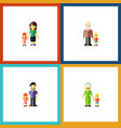 flat icon people set of daugther father grandma vector image vector image