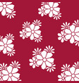 flowers pattern isolated icon vector image
