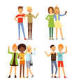 friendship different male vector image