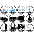 Gas extracting industry vector image vector image