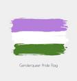 genderqueer lgbt watercolor flag vector image