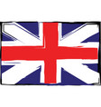 grunge uk flag or banner vector image