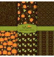halloween collection seamless pattern vector image